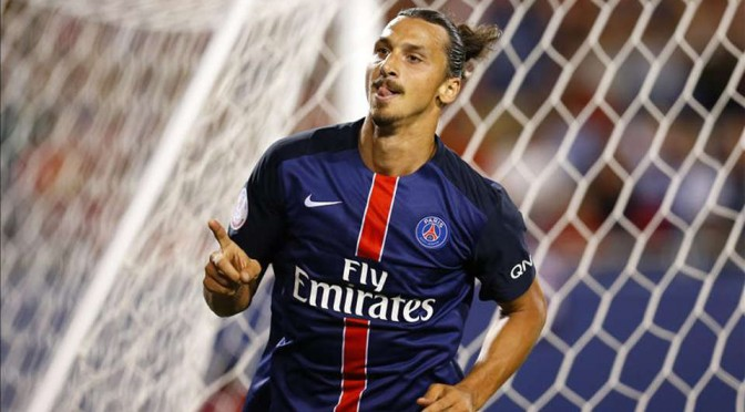 PSG and former Malmo striker Zlatan Ibrahimovic