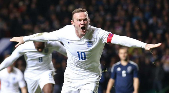 England captain and almost leading scorer, Wayne Rooney