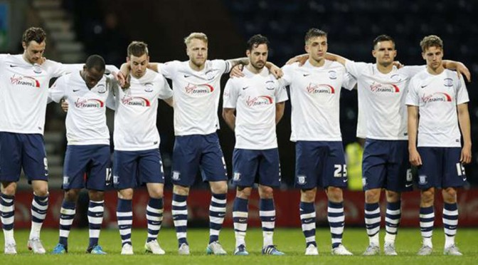 Preston North End players look dejected