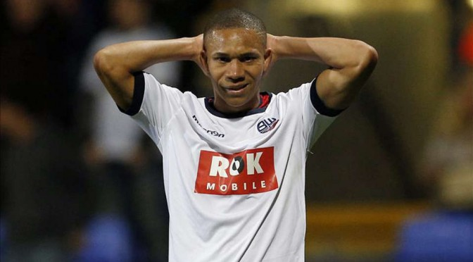 Bolton Wanderer's Wellington Silva looks dejected
