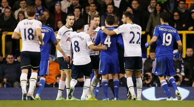 Jan Vertonghen and Cesc Fabregas clash in the same fixture last season