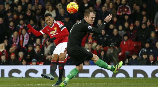 Manchester United Anthony Martial scores against Stoke City