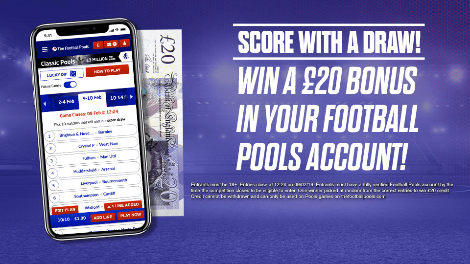 Football Pools Twitter Competition Score With A Draw Guess The